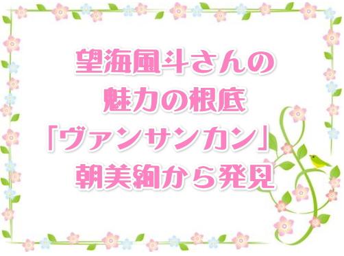 望海風斗さんの魅力の根底「ヴァンサンカン 朝美絢」から発見