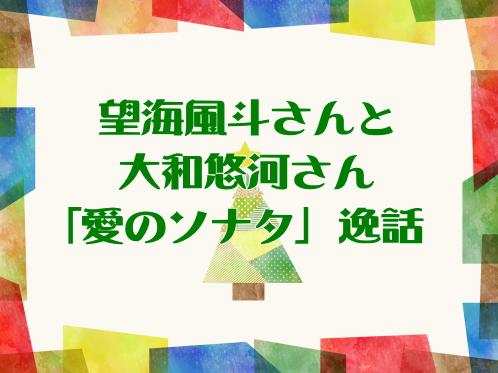望海風斗さんと大和悠河さん「愛のソナタ」逸話