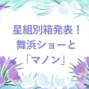 星組別箱発表!舞浜ショーと「マノン」