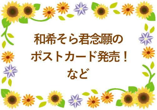 和希そら君念願のポストカード発売!など